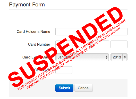 PAYMENT SUSPENDED
